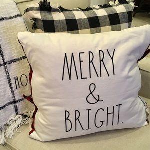 Rae Dunn MERRY & BRIGHT Pillow